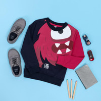 sweater anak laki-laki dan perempuan, Swetshirt monster