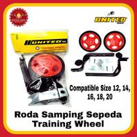 UNITED Roda Samping Sepeda Training Wheel Roda Bantu
