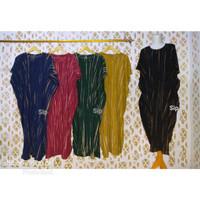 daster lowo tie dye bleaching stripe motif garis abstrak bahan rayon