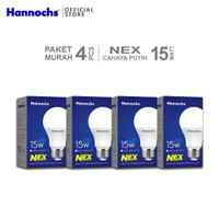 Hannochs Lampu LED NEX 15 watt CDL 4pcs - Putih - Paket Murah
