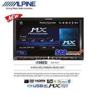 Alpine I108ED Head Unit Hi-Res Double Din DVD Tape Audio + Rear Camera