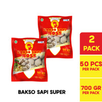 BOSS Bakso Sapi Super @ 50 Pcs 700 Gr Multipack