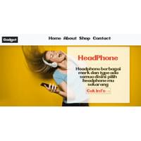 Website nya toko gadget electronic store shop + aplikasi toko kasir