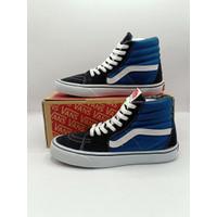 sepatu vans sk8 sepatu vans pra sepatu vans - biru putih, 40