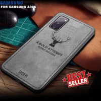 Case Samsung A02s Cloth Leather Deer Case Premium Softcase Casing