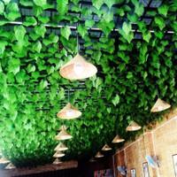 Daun Rambat Besar Sulur 2m Artificial Anggur Ivy Dekorasi Dinding