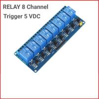Relay modul 8 channel module 5v Arduino PIC ARM Rasp Pi optocoupler