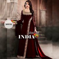 Baju Gamis Wanita Terbaru Gaun India Maxi Dress Danila Maron