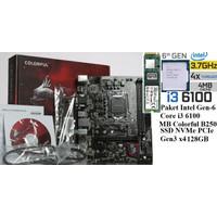 Paket Intel GEN6 Core I3 6100+MOBO Intel B250M DDR4+ SSDNVMe128GB