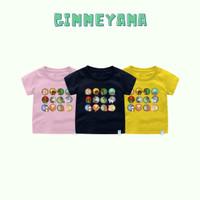 Baju Kaos Imlek Bayi Anak Remaja gimmeyama 12 Shio Tahun Baru Katun - Kuning, Size 1