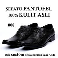 Sepatu Pria Formal Kantor Kulit Ukuran Besar Jumbo Big Size 44 45 46
