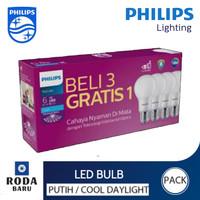Bohlam Lampu LED Phillips promo beli 3 gratis 1 6 watt-12watt