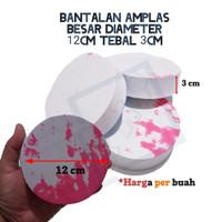 BANTALAN AMPLAS BULAT 12 cm TEBAL 3 cm