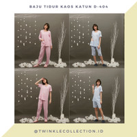 Baju Tidur Piyama Wanita Kaos Katun D-404 by GREET