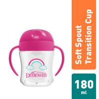 Dr.Brown's 6 oz/180ml Soft-Spout Transition Cup w/ Handle Stage 1