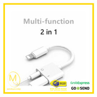 Adapter Lightning to AUX 3.5mm Headphone + Lightning for iPhone 7/8/X