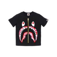 Bape Kids ABC Camo Shark tee - Black/Pink - 130