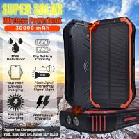Powerbank Power Bank Solar 30000mAh Wireless Fast Charging 15W