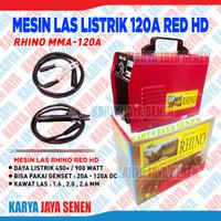 Mesin Las Rhino Red 120A merah MESIN LAS LITRIK RHINO 120A RED HD