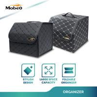 Mobeo Organizer Bagasi Mobil Lipat Bahan Kulit Synthetic Leather