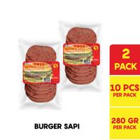 BOSS Burger Sapi @ 10 Pcs 280 Gr Multipack
