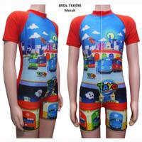Baju Renang Anak Diving Pendek Usia 4-9 Th Karakter Tayo BRDL-TKK098