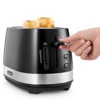DeLonghi CTLA2103.B Toaster 2Slot Pemanggang Roti - Black