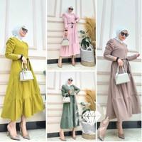 Baju Maxi Dress Polos Wanita Dewasa Muslimah Hijab Kekinian Terbaru