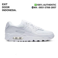 Nike Air Max 90 Men's Shoes Triple White / Putih Polos 100% Authentic