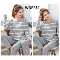 Piyama Wanita Baju Tidur Wanita Mickey Stripe Grey