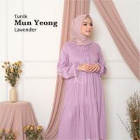 Melika Long Daster / Tunik / baju muslim bahan rayon polos / Mun Yeong