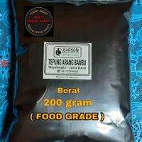 BLACK CHARCOAL POWDER BAMBU 200 gram tepung arang BAMBU FOOD GRADE
