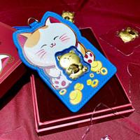 Angpao Emas 24 Karat Sincia Cny card holder kucing biru