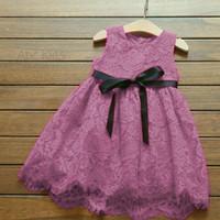 Liskids Gaun Dress Pesta brokat brukat Anak perempuan import terbaru 2