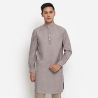 Baju Kurta Pakistan Koko Katun Premium Warna Oxford Pria Toraformen - Maroon, XL