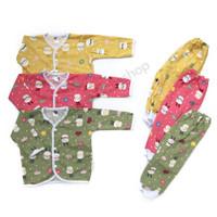 Newborn-1 Pc Stelan Micellita Piyama Baju Tidur Anak Bayi BUNNY FLOWER