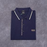 Baju hugo boss polo paule 4 slim fit dark blue asli