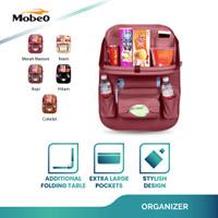 Mobeo Car Seat Organizer / Tas Jok PU Leather Meja Lipat (Size A)