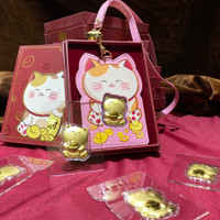 Angpao Emas 24 Karat Sincia Cny card holder kucing pink