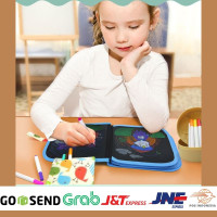Reusable Drawing Book Buku Menggambar Mainan Edukasi Anak 2 sd 7 Tahun - Dino Coco Red