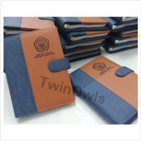 buku agenda kulit custom logo seminar dengan ring binder