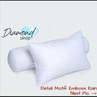 Bantal Hotel Diamond Emboss Bulu Angsa Sintetis !!!