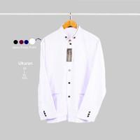 Baju Koko - Jasko Polos Putih Elegan
