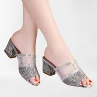 Sendal Wanita High Heels Pesta Model Glamour Fashion Terbaru