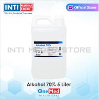 ONEMED - Alkohol 70% 5 Liter   Alkohol Antiseptik   Alkohol Onemed