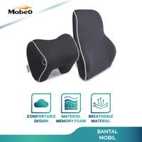 Mobeo Bantal Mobil Penyangga Punggung / Leher Polyester Car Pillow