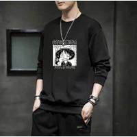 Baju Kaos Lengan Panjang Pria Atasan Cowok Fashion Motif Luffy Distro