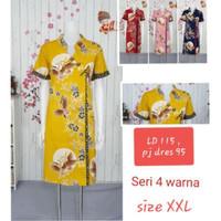Dress Imlek XXL Kualitas Jumbo Bigsize Terusan Batik Wanita Cheongsam