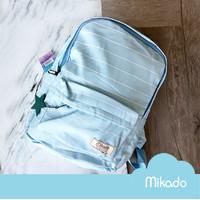 Mikado STRIPES Nylon Backpack / Tas Ransel - Blue