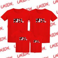 Kaos Imlek Keluarga Shio Kerbau Tahun 2021 / Baju Imlek Keluarga